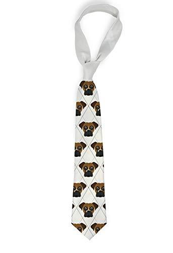 Mystic Sloth Elegant Dog Breed Specific Argyle Pattern Novelty Necktie - 56