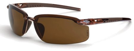12 Pack Crossfire 291113 ES5 Polarized Safety Glasses HD Brown Lens - Crystal Brown Frame by Crossfire