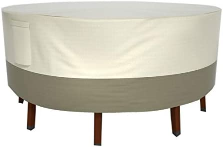 Wisteria Lane Patio Furniture Cover, Durable Waterproof Dustproof Veranda Outdoor Cover Suit for Rectangular Round Dining Tables,94 x 28 inches, Beige Brown