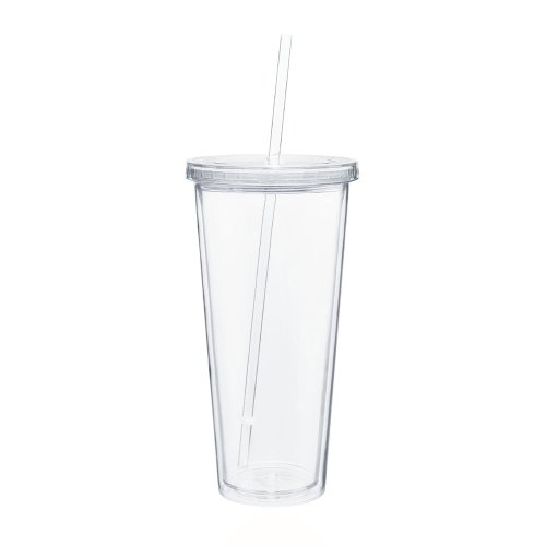 Eco To Go Cold Drink Tumbler - Double Wall -20oz. Capacity - Clear]()
