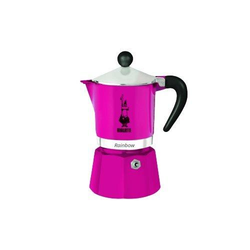 Bialetti 5012 Rainbow Espresso Maker, Fuchsia