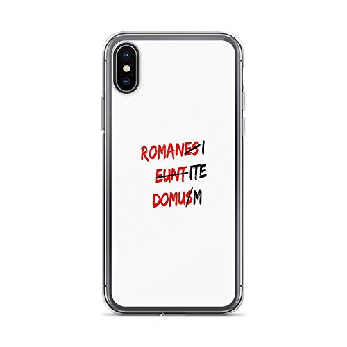 iPhone X Case iPhone Xs Case Clear Anti-Scratch Romanes eunt Domus, Anti Cover Phone Cases for iPhone X/iPhone Xs, Crystal Clear]()