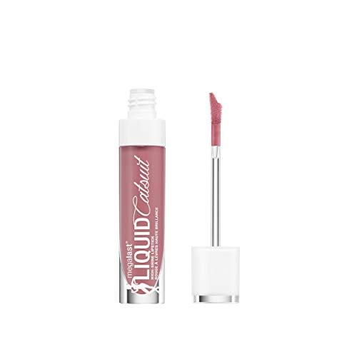 - wet n wild Megalast Liquid Catsuit High Shine Lipstick, Send Nudes, 0.2 Ounce