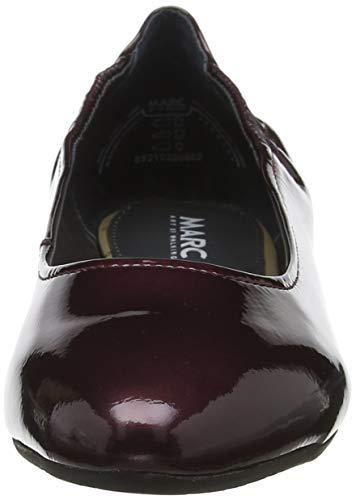00852 Marc Rouge Crack Ballerines Femme Shoes suede Lame Bordo Aurelia wFFAqpf