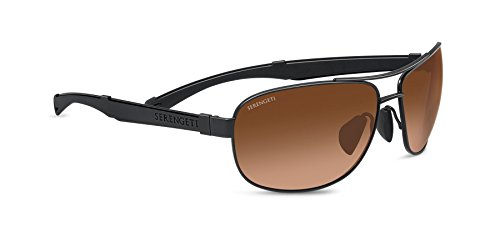 Serengeti 7973 Norcia, Satin Black Frame, Drivers Gradient Lens by Serengeti