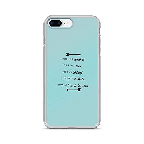 iPhone 7 Plus/iPhone 8 Plus Case Clear Anti-Scratch Gossip Girl Traits Design, Gossip Girl Cover Phone Cases for iPhone 7 Plus, iPhone 8 ()