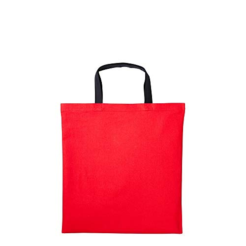 Chart Special Order Cross Stitch - Nutshell Varsity Cotton Shopper Short Handle Tote (One Size) (Fire Red/Black)
