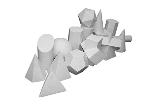 Sculpture 15 pc Shape set assorted shapes for Drawing Teaching and Study by Torino
