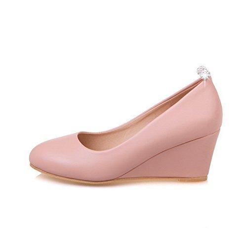 Espadrilles Balamasa Escarpins À Taille Basse Escarpins Uréthane À Bouts Ronds Chaussures Rose