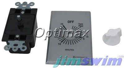 Timer, Spring Wound, 15 Min, DPST, Silver (Dpst Mechanical Time Switch)