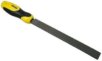 Stanley Holzraspel, Flachstumpf, Hieb 2 (Karbon-Stahl, ergonomischer Bi-Material Handgriff, Griffaussparung) 0-22-467 BLAMT