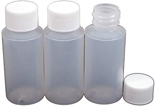 Creative Hobbies 1 Ounce Empty Plastic Bottles, LDPE Easy Sq