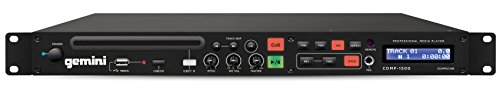 Gemini CDMP Series CDMP-1500 19-inch Professional Audio 1U Size Rackmount Single CD/MP3/USB Music Player
