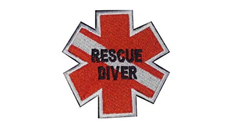 Rescue Diver Flag Patch Scuba Star of Life EMT Paramedic Morale Patch Hook Backing ...
