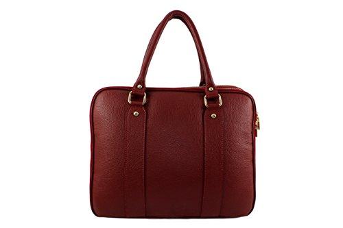 main à mixte cuir Plusieurs sac sac bureau cuir cuir cuir sac cuir Coloris Foncé sac homme Elegantina Sac sac italie elegantina cuir Rouge x5wdTAA