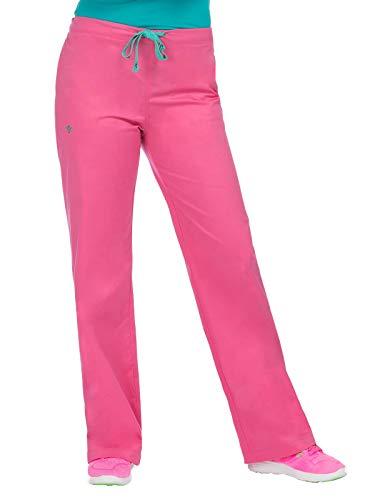 (Med Couture Women's Signature Drawstring Scrub Pant Bubblegum/Spearmint XLP)