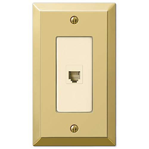 Century Polished Brass 1 Phone Jack with Hardware