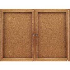 Acco Bulletin Board Enclosed (Quartet Enclosed Cork Indoor Bulletin Boards, 3 x 4 Feet, 2 Doors, Oak Finish (364))
