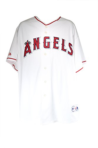 Majestic Men's Anaheim Angels Jersey White/red Mlb Baseball Sportswear (Anaheim White Baseball)