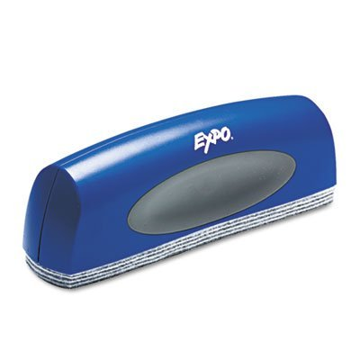 (EXPO Products - EXPO - Dry Erase EraserXL w/Replaceable Pad, Felt, 10w x 2d - Sold As 1 Each - Easily erases large areas. - Large, comfortable grip. - Eight-layer, peel-away felt pad.)