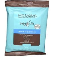 Baby Wipes by MD Moms - Eczema Approved Hypoallergenic Cleansing Towelettes for Sensitive Skin (12 ct Travel Pouch)