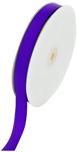 Scrapbooking Bows 5/8 Ribbon - Creative Ideas 50-Yard Solid Grosgrain Ribbon, 5/8-Inch, Purple