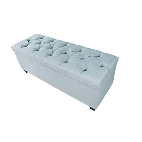 MJL Furniture Designs Diamond Tufted Ottoman/Bedroom Bench with Shoe Storage, 20
