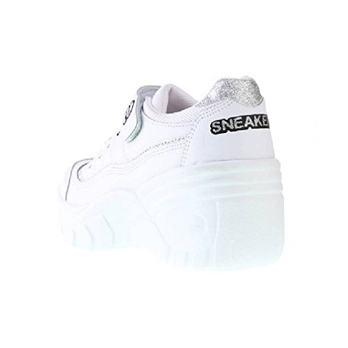 EpicStep Womens Casual Velcro Lace Up Platform Wedges Heels Cheerleaders Shoes Sneakers White T8hDsl