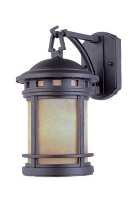 Oil Rubbed Bronze w/amber 3 Light 11in. Cast Aluminum Wall Lantern from the Sedona Collection