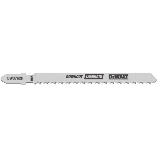 DEWALT DW3762H 4-Inch 10TPI Laminate Down Cutting HSC T-Shank Jig Saw Blade (5-Pack)