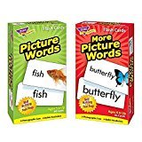 Trend Picture - Picture Words & More Picture Words Skill Drill Flash Cards -- Bundle of 2 Items by Trend Enterprises