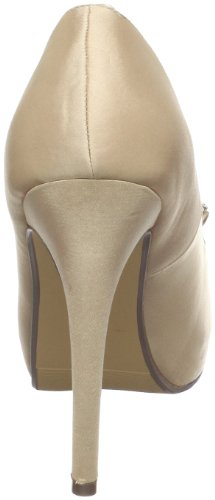 Paco Mena Plateau Peeptoe mit Strass Champagner Nude 39