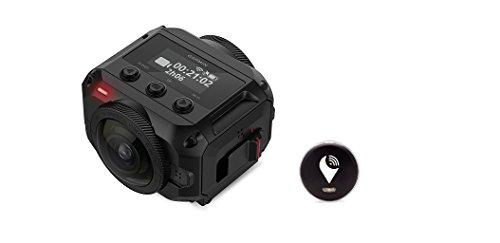 Garmin Virb 360 - Rugged, Waterproof 360-degree Camera (5.7K/30fps Resolution, 4K Spherical Stabilization) and TrackR pixel Black (Gps Garmin Waterproof Motorcycle)