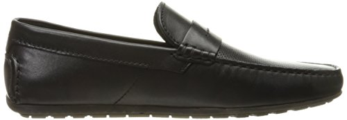 Hugo Av Hugo Boss Mens Reser Dandy Mockasin I Svart Läder Slip-on Loafer Svart