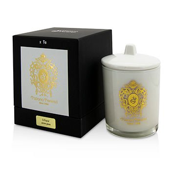 Tiziana Terenzi Glass Candle with Gold Decoration & Wooden Wick - Lillipur (White Glass) 170g/6oz