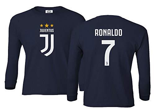 Spark Apparel Soccer Shirt  7 Cristiano Ronaldo Juve CR7 Boys Girls Youth  Long Sleeve T 07a899cea