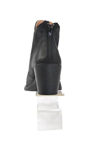 Scarponcino Classico Da Donna Nero Hadari Con Zip Posteriore