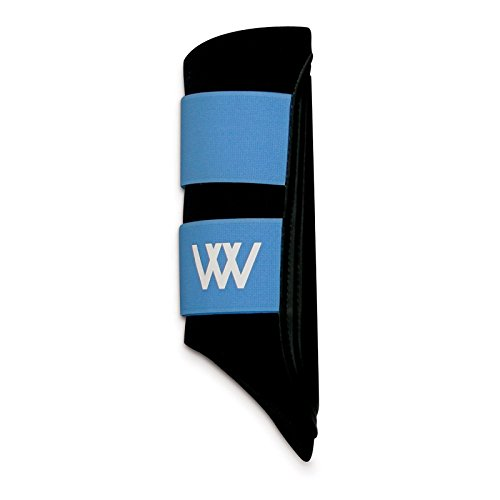 WOOF WEAR Sport Brushing Boots - Size:Large Color:Black/Sky - Sky Type