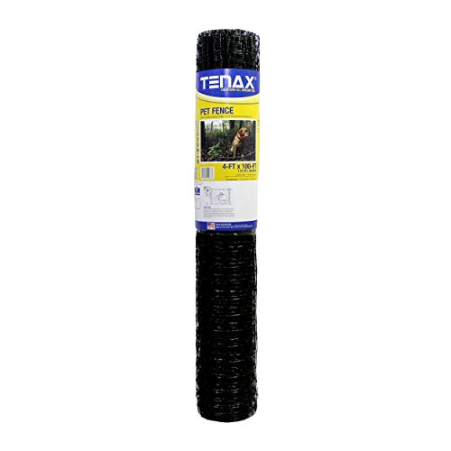 Tenax 2A140073 Pet Fence Select Pet Fence, Black, 4' x 100' (Best Temporary Fence For Dogs)