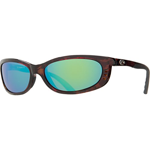 Costa Fathom Polarized Sunglasses - Costa 400 Glass Lens Tortoise/Green Mirror, One Size - - Sunglasses Fathom