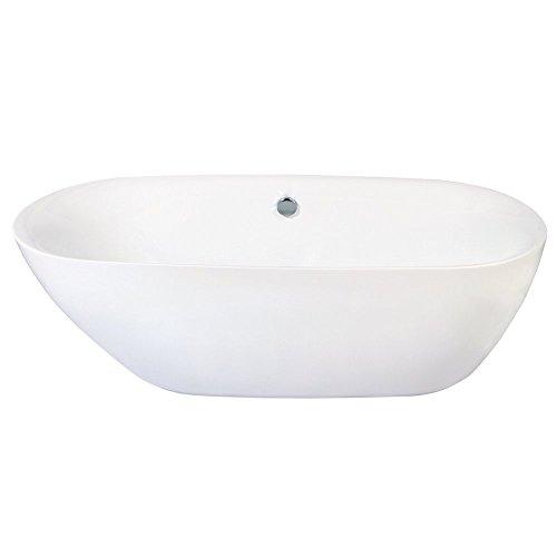 Contemporary acrylic tub for Woodbridge 54 modern bathroom freestanding bathtub