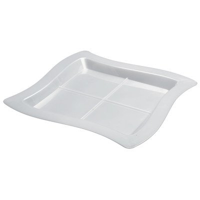 Tiny Temptations 7 inch Tangent Sectional Plate (Set of 120) Color: White