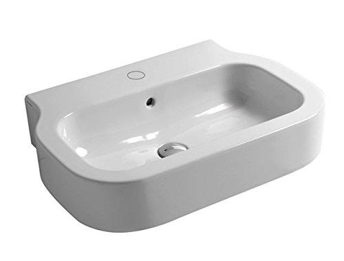 Lavabo bianco senza foro sospeso cm 60 serie Glaze Azzurra Ceramica