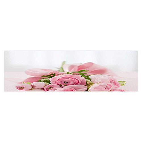 Leighhome Aquarium Collage Pink Rose on Valentine's Day Paper Fish Tank Backdrop Static Cling Wallpaper Sticker L29.5 x H17.7