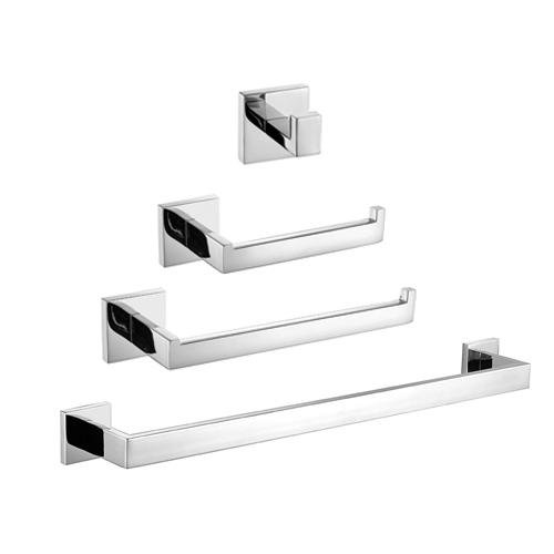 LightInTheBox 4PC Towel Bar Sets 304 Stainless Steel Bathroom Accessory Sets Robe Hooks/Towel Rack/Toilet Paper Holder/Towel Bar