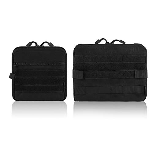 FUNANASUN 2 Pack Molle Pouches - Tactical Compact Water-Resistant EDC Pouch