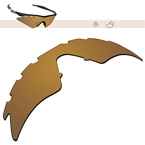 Glintbay 100% Precise-Fit Replacement Sunglass Lenses for Oakley M Frame Sweep Vented - Polarized Bronze Gold Mirror