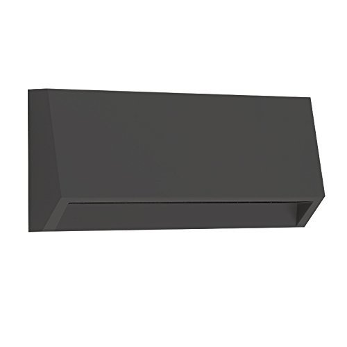 and Wall Led Light - Outdoor and Indoor Decorative Lighting - Rectangular, Down Direct Light, Waterproof IP65, 3W 120V 4000K 160LM, Black (120v Brick Light)