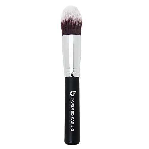 Concealer Makeup Brush Tapered Kabuki - Best Eye Brush for Under Eye Concealing Liquid Cream Powder Make Up for Full Coverage Cosmetic Applicator Soft Dense Synthetic Vegan Brochas de Maquillaje