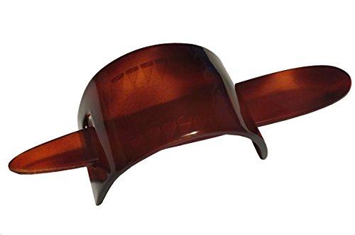 Parcelona French Arch Medium Tortoise Shell Hair Slider Pin Thru Bun Cover Cap Ponytail Holder Hair Updo with Stick ()